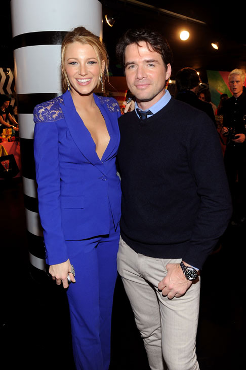 Matthew Settle and Blake Lively of the CW's 'Gossip Girl' arrive at the unveiling of 'Gaga's Workshop' at Barneys New York on November 21.