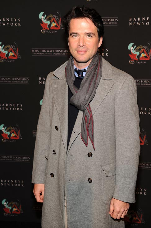 Matthew Settle of the CW's 'Gossip Girl' arrives at the unveiling of 'Gaga's Workshop' at Barneys New York on November 21.