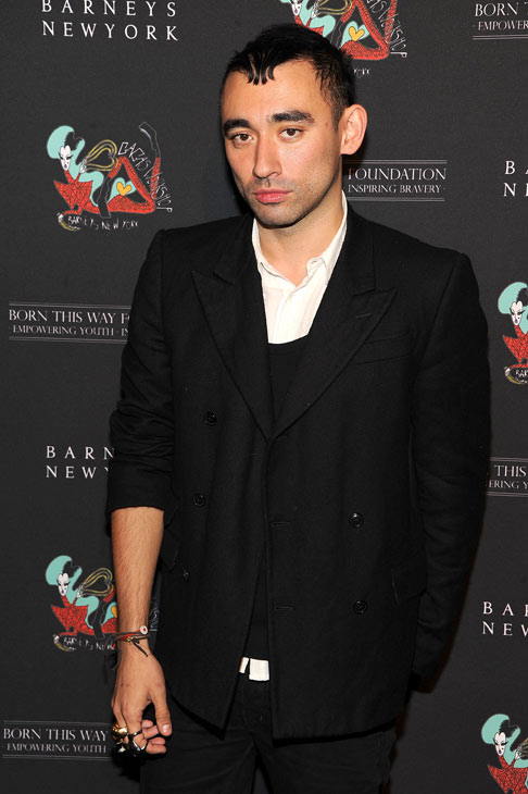 Nicola Formichetti, co-creator of 'Gaga's Workshop,' arrives at the unveiling of 'Gaga's Workshop' at Barneys New York on November 21.