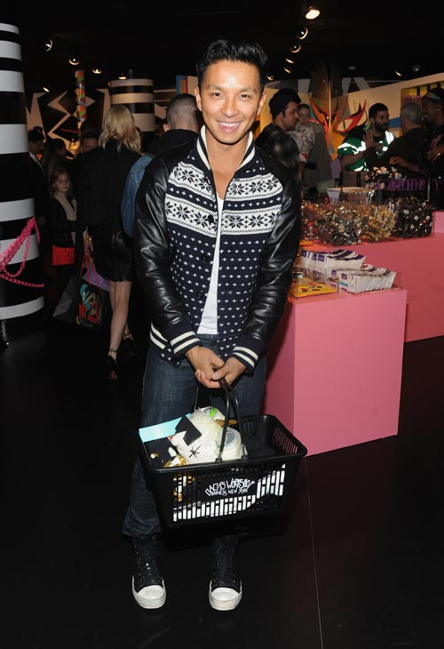 Prabal Gurung arrives at the unveiling of 'Gaga's Workshop' at Barneys New York on November 21.