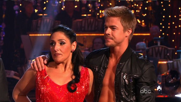 "<div class=""meta ""><span class=""caption-text "">Talk show host and actress Ricki Lake and her partner Derek Hough received 27 out of 30 from the judges for their Cha Cha Cha and 27 out of 27 for their Freestyle dance for a total of 54 out of 60 points on the November 21 episode of 'Dancing With The Stars.' (ABC Photo)</span></div>"