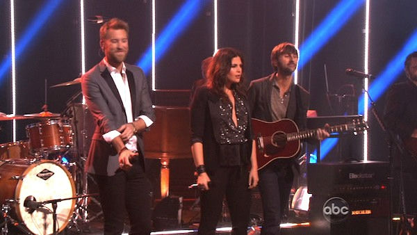 Lady Antebellum had the final ballroom music performance for season 13 of &#39;Dancing With The Stars: The Results Show,&#39; on Tuesday, November 22, 2011. The group had the television debut of their single &#39;Dancing Away with My Heart,&#39; which is off their new album &#39;Own the Night.&#39; The country music band was accompanied by Troupe members Sasha, Teddy, Kiki, Sharna, Dasha and Oksana on the dance floor. The group also performed their hit song &#39;Need You Now,&#39; accompanied by &#39;Dancing With The Stars&#39; pros Kym, Dmitry, Peta and Val.  <span class=meta>(OTRC Photo)</span>