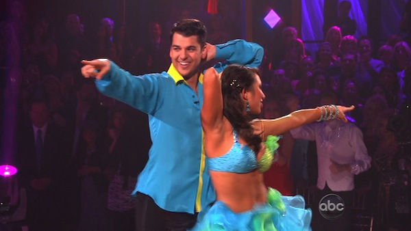 'Keeping Up With The Kardashians' star Rob Kardashian and his partner Cheryl Burke received 30 out of 30 for their Instant Samba on 'Dancing With The Stars: The Results Show' on Tuesday, November 22.