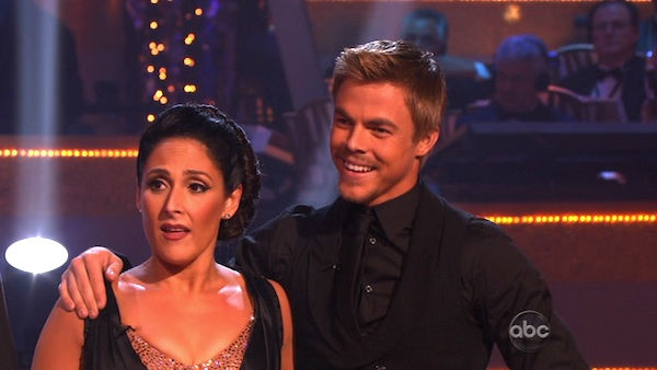 Talk show host and actress Ricki Lake and her partner Derek Hough received a 30 for their favorite dance, a Tango from week 4 on 'Dancing With The Stars: The Results Show' on Tuesday, November 22.