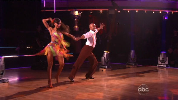 "<div class=""meta image-caption""><div class=""origin-logo origin-image ""><span></span></div><span class=""caption-text"">'All My Children' actor and Iraq War veteran J.R. Martinez and his partner Karina Smirnoff received 30 out of 30 for their Instant Samba on 'Dancing With The Stars: The Results Show' on Tuesday, November 22. (OTRC Photo)</span></div>"