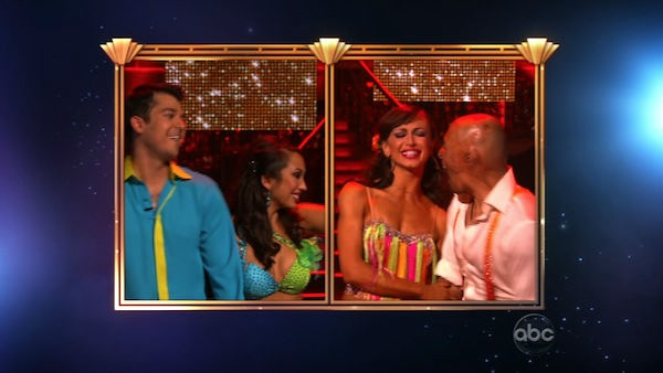 &#39;All My Children&#39; actor and Iraq War veteran J.R. Martinez and his partner Karina Smirnoff react to winning season 13 of &#39;Dancing With The Stars&#39; on Tuesday, November 22. The couple received 30 out of 30 for their Instant Samba and 28 out of 30 for their favorite dance, a Jive from week 2. On Monday the pair received 24 out of 30 from the judges for their Cha Cha and 30 out of 30 for their Freestyle dance for a total of 54 out of 60. <span class=meta>(OTRC Photo)</span>