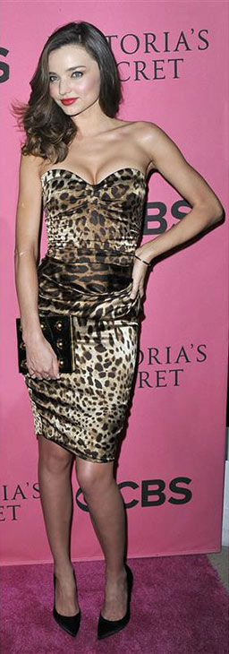 Miranda Kerr appears at the 2011 Victoria&#39;s Secret Fashion Show Viewing Party in Costa Mesa, California on Nov. 29, 2011. <span class=meta>(Mark Savage&#47;startraksphoto.com)</span>