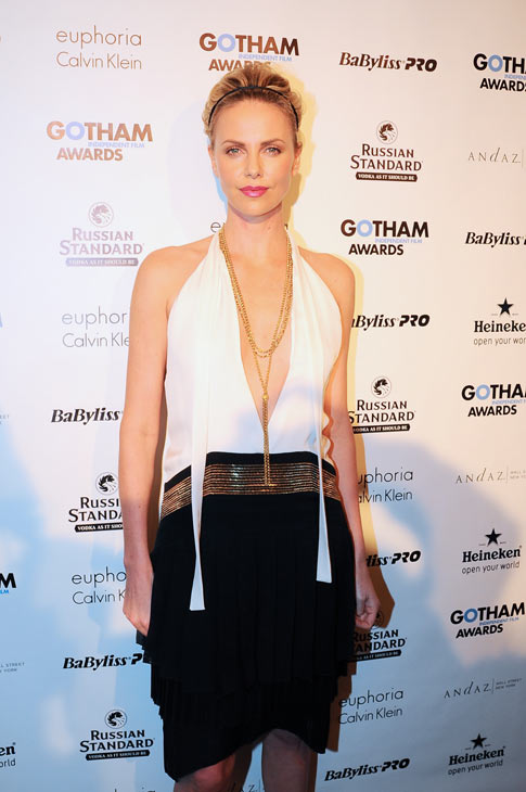 Charlize Theron appears in a photo at the Gotham...