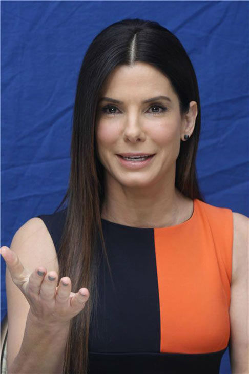 Sandra Bullock appears at a press conference for 'Extremely Loud and Incredibly Close' in Los Angeles, California on Dec. 7, 2011.