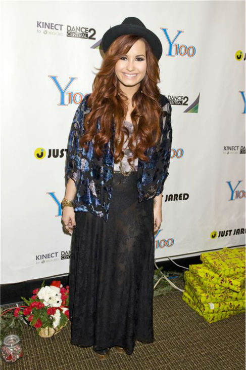 Demi Lovato appears at the Y100 Jingle Ball at the BankAtlantic Center in Sunrise, Florida on Dec. 10, 2011. <span class=meta>(Justin Campbell &#47; Startraksphoto.com)</span>