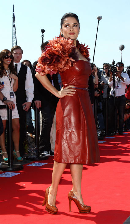 "<div class=""meta ""><span class=""caption-text "">Actress Salma Hayek attends the 'Puss in Boots' Photocall at Carlton Beach during the 64th Cannes Film Festival on May 11, 2011 in Cannes, France.  (Andreas Rentz / Getty Images / Royalty-free)</span></div>"