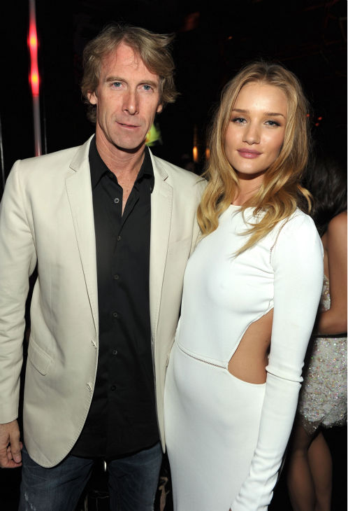 Director Michael Bay  and actress Rosie...