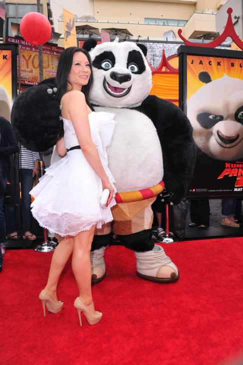 Lucy Liu arrives at DreamWorks Animation's 'Kung...