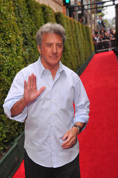 Dustin Hoffman arrives at DreamWorks Animation's...
