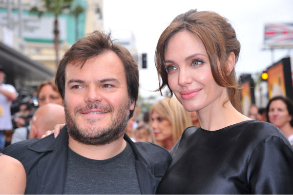 Angelina Jolie and Jack Black arrive at DreamWorks Animation's 'Kung Fu Panda 2' Los Angeles Premiere held at Grauman's Chinese Theatre on May 22, 2011 in Hollywood, California.