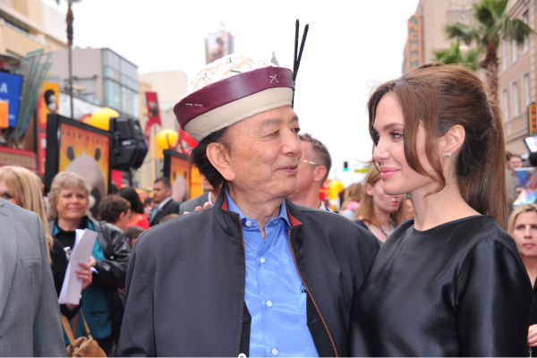 James Hong and Angelina Jolie arrive at...