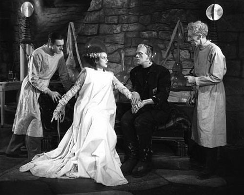 Colin Clive, Elsa Lanchester, Boris Karloff and...