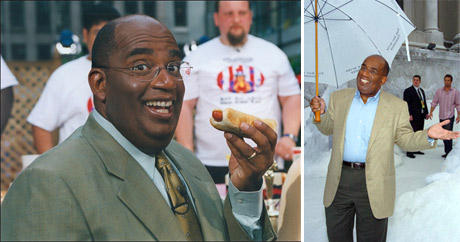 Weighing 320 lbs. at his heaviest, Al Roker made a promise to his dying father, Al Roker Sr. to lose the weight.  Eight years ago, Roker underwent gastric bypass surgery, which was documented for the &#39;Today Show.&#39;  Nowadays, Roker weighs about 200 lbs. &#40;Pictured: Al Roker in 2002 and in 2010&#41; <span class=meta>(NBC)</span>