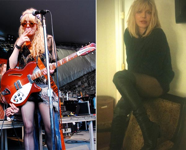 Rocker, Courtney Love&#39;s weight has yo-yoed over the past few years, but in 2007 she lost a dramatic amount of weight which caught the media&#39;s attention.  At her highest, Love weighed 182 lbs and blamed her weight gain on macrobiotic food.  Love told People magazine that she drinks two shakes and eats one meal per day to stay trim. &#40;Pictured: Courtney Love in an undated 2007 photo provided by a fan &#47; Courtney Love in an undated 2010 photo posted on her Twitter page&#41; <span class=meta>(flickr.com&#47;whittlz and twitter.com&#47;courtneyloveuk)</span>