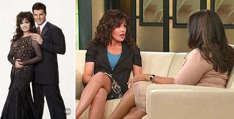 Marie Osmond recently shed 45 pounds with the help of the NutriSystem diet plan.  She blamed her weight struggles on the entertainment industry.  Osmond decided to lose the weight with NutriSystem because it was heart healthy and private, she said in an interview with Oprah in 2009. &#40;Pictured: Marie Osmond and &#39;Dancing with the Stars&#39; partner Jonathan Roberts in 2007&#41;. <span class=meta>(Photos courtesy of ABC and Harpo Productions)</span>