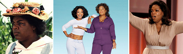 Talk show host Oprah Winfrey has battled her weight issues publicly on her show and in her magazine, O.  In 1988, she showed off her new figure duringa  taping of her show in Chicago after she lost 67 pounds following a liquid diet and exercise.   In 1992, Winfrey weighed her heaviest at 237 lbs and made it her goal to lose weight.  By 2005 she had dropped down to a toned 160 lbs, but slowly gained 40 lbs until she reached 200 lbs in 2008.  In the December 2008 issue of O, Winfrey revealed her battle with food addiction, lack of exercise and a thyroid issue.  Winfrey still continues to struggle with her weight. &#40;Pictured: Oprah Winfrey in 1985 in a scene from &#39;The Color Purple,&#39; on the cover of O magazine in 2008 and a 2010 episode of Oprah.&#41; <span class=meta>(Photos courtesy of Warner Bros. Pictures, O magazine &#47; Matthew Rolston and Harpo Productions)</span>