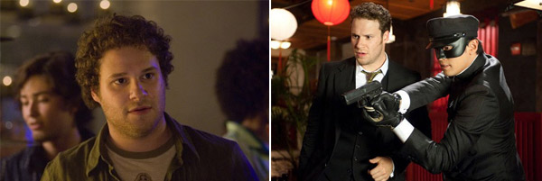 Seth Rogen slimmed down in 2008 and told KIIS-FM host Ryan Seacrest: &#39;I exercised and I dieted,&#39; which he refers to as the &#39;lamest answer ever.&#39; &#40;Pictured: Seth Rogen in a scene from &#39;Knocked Up&#39; and with Jay Chou in &#39;The Green Hornet.&#39;&#41; <span class=meta>(Universal Pictures and Sony Pictures)</span>