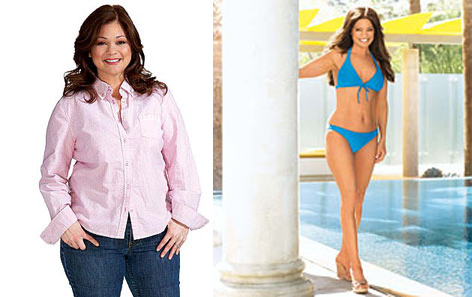 In 2008, Valerie Bertinelli weighed 172 lbs and through Jenny Craig, she managed to slim down to 125 lbs one year later.  Bertinelli told Oprah in 2009 &#39;the Jenny Craig diet works for her because while there are plan-specific meals, she can also eat something of her own.&#39;  She also showed off her new bikini body in a Jenny Craig commercial. &#40;Pictured: Valerie Bertinelli in a 2009 photo provided by Harpo Productions. &#47; Valerie Bertinelli in a 2010 photo provided by Jenny Craig.&#41; <span class=meta>(Jenny Craig and Harpo Productions)</span>