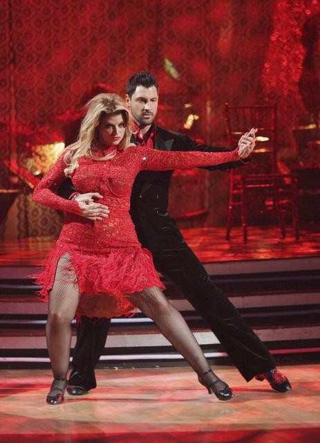 Kirstie Alley and her partner Maksim