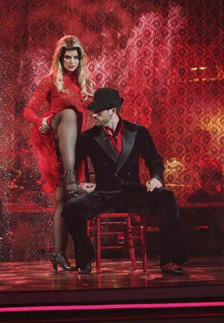 Kirstie Alley and her partner Maksim Chmerkovskiy dance an A