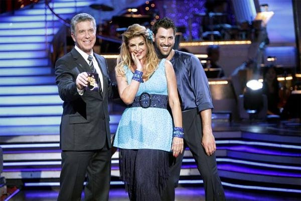 Kirstie Alley and her partner Maksim Chmerkovskiy dance an Argentine Tango and a Salsa on week eight of &#39;Dancing With The Stars.&#39; The judges gave the couple 28 out of 30 for their Argentine Tango and 25 points out of 30 for their Salsa. The couple earned a total of 53 out of 60. <span class=meta>(ABC&#47; Adam Taylor)</span>