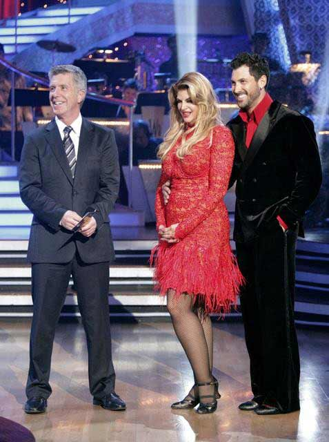 Kirstie Alley and her partner Maksim Chmerkovskiy dance an Arge