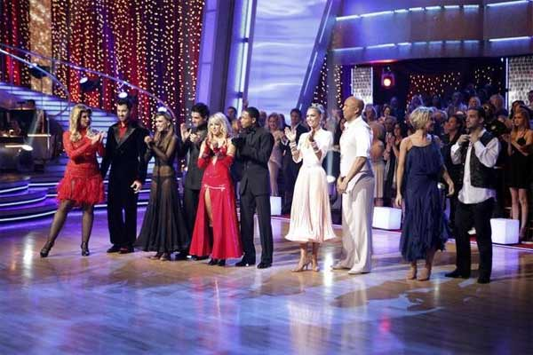 "<div class=""meta image-caption""><div class=""origin-logo origin-image ""><span></span></div><span class=""caption-text"">Five remaining pairs on 'Dancing With The Stars' performed two individual dances, one ballroom number and one 'Instant Dance,' in which couples had to master a number to music they had been given for the first time after the show's broadcast had begun. (ABC/ Adam Taylor)</span></div>"