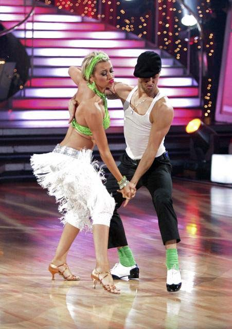Chelsea Kane and her partner Mark Ballas dance a Waltz and a Salsa on week eight of &#39;Dancing With The Stars.&#39; The judges gave the couple 29 out of 30 for their Waltz and 26 points out of 30 for their Salsa. The couple earned a total of 55 out of 60. <span class=meta>(ABC&#47; Adam Taylor)</span>