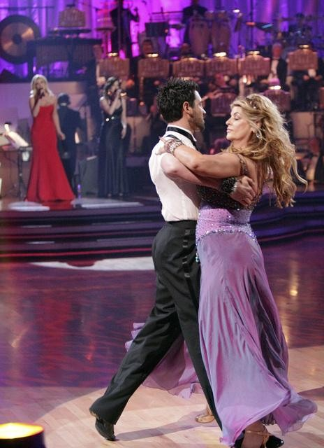 Kirstie Alley and her partner Maksim Chmerkovskiy dance Waltz on week fourof &#39;Dancing With The Stars.&#39; The couple received a 22 out of 30 from the judges. <span class=meta>(ABC&#47;Adam Taylor)</span>