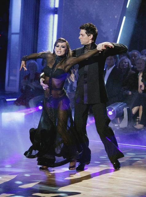 Ralph Macchio and his partner Karina Smirnoff dance an Argentine Tango and a Cha Cha on week eight of &#39;Dancing With The Stars.&#39; The judges gave the couple 25 out of 30 for their Argentine Tango and 21 points out of 30 for their Cha Cha. The couple earned a total of 56 out of 60. <span class=meta>(ABC&#47; Adam Taylor)</span>