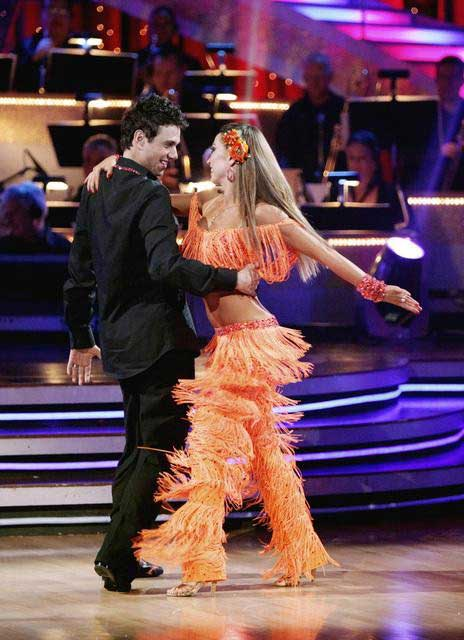 Ralph Macchio and his partner Karina Smirnoff dance an Argentine Tango