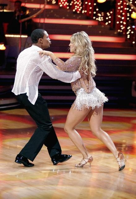 Romeo and his partner Chelsie Hightower dance a Tango and a Salsa on week e