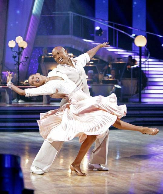 Hines Ward and his partner Kym Johnson dance a Fox Trot and