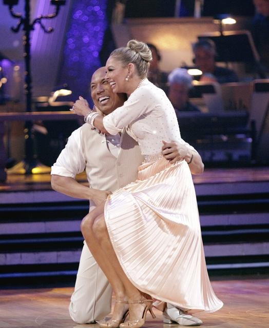 "<div class=""meta ""><span class=""caption-text "">Hines Ward and his partner Kym Johnson dance a Fox Trot and a Jive on week eight of 'Dancing With The Stars.' The judges gave the couple 28 out of 30 for their Fox Trot and 26 points out of 30 for their Jive. The couple earned a total of 53 out of 60. (ABC/ Adam Taylor)</span></div>"