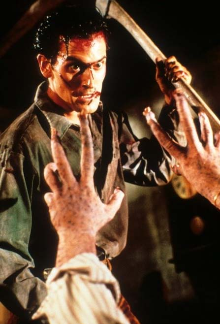 Bruce Campbell appears in a scene from the 1987 movie, 'Evil Dead II.'