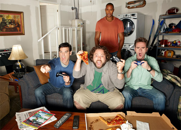"<div class=""meta image-caption""><div class=""origin-logo origin-image ""><span></span></div><span class=""caption-text"">'Man Up,' a new comedy series on ABC, debuts on Oct. 18, 2011 and will air on Tuesdays from 8:30 to 9 p.m.  Three modern men try to get in touch with their inner tough guys and redefine what it means to be a 'real man' in this funny and relatable comedy.  (ABC)</span></div>"