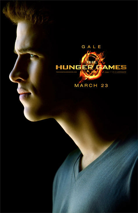 Liam Hemsworth appears as Gale Hawthorne in an official poster for
