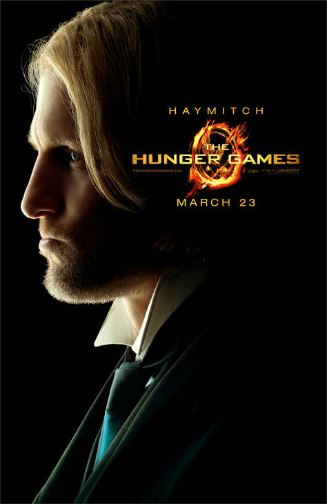 Woody Harrelson appears as Haymitch Abernathy in an official poster for 'The Hunger Games,' which is slated for release on March 23, 2012.