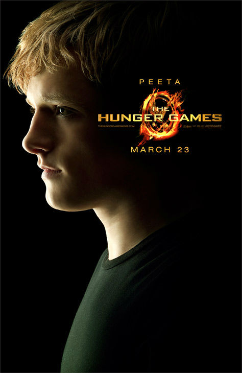 Josh Hutcherson appears as Peeta Mellark in an official poster for 'The Hunger Games,' which is slated for release on March 23, 2012.