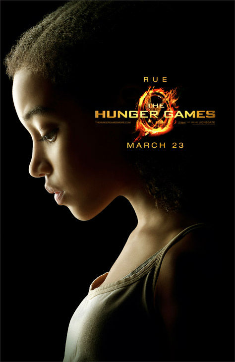 Amandla Stenberg appears as Rue in an official poster for 'The Hunger Games,' which is slated for release on March 23, 2012.