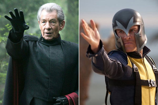 Left: Ian McKellen in a promotional photo for...