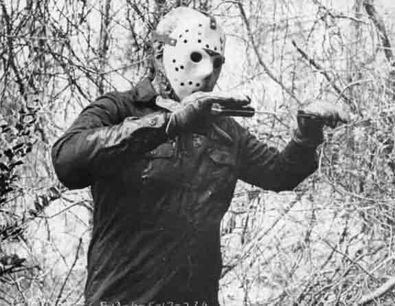 C.J. Graham as Jason Voorhees in a scene for the...
