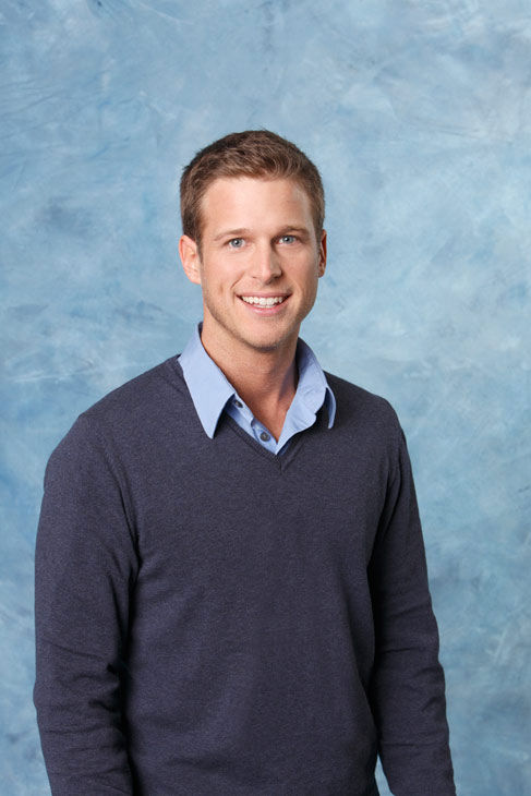 "<div class=""meta ""><span class=""caption-text "">William appears in a promotional photo for the seventh edition of 'The Bachelorette,' which premieres on Monday, May 23 (9:00-11:00 p.m., ET), on the ABC Television Network.  (ABC Photo/ Craig Sjodin)</span></div>"