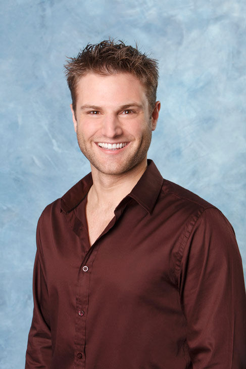 "<div class=""meta ""><span class=""caption-text "">Rob appears in a promotional photo for the seventh edition of 'The Bachelorette,' which premieres on Monday, May 23 (9:00-11:00 p.m., ET), on the ABC Television Network.  (ABC Photo/ Craig Sjodin)</span></div>"