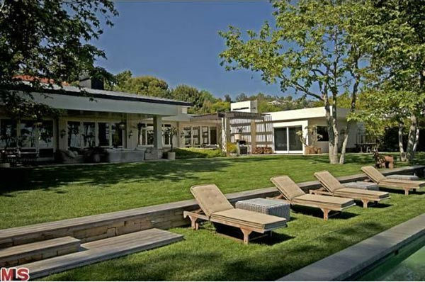 A view of the $49 million Beverly Hills home of...